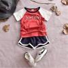 Мальчики летние наборы топы + брюки детская одежда с коротким рукавом спортивный костюм для мальчиков спортивные костюмы мультфильм костюм для детской одежды спортивные игровые наборы hudora спортивный игровой набор