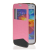 MOONCASE View Window Leather Side Flip Wallet Card Slot Pouch Stand Soft Shell Back чехол для Samsung Galaxy S5 Mini pink mooncase soft silicone gel side flip pouch hard shell back чехол для samsung galaxy s6 white