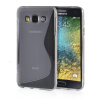 MOONCASE S - Line Soft Flexible Silicone Gel TPU Skin Shell Back ЧЕХОЛ ДЛЯ Samsung Galaxy E5 / E500 Grey mooncase soft silicone gel side flip pouch hard shell back чехол для samsung galaxy s6 grey