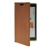 MOONCASE Slim Leather Flip Wallet Card Pouch with Kickstand Shell Back ЧЕХОЛДЛЯ Nokia Lumia 1520 Brown синий slim robot armor kickstand ударопрочный жесткий корпус из прочной резины для vivo x9plus