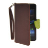 MOONCASE Лич кожи Кожа держатель карты бумажник чехол с Kickstand чехол для Sony Xperia Z1 Compact (Mini ) Браун чехол вертикальный откидной для sony xperia z1 compact mini красный armorjacket
