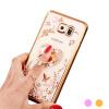 Flower Diamonds Soft TPU Phone Docks Cases Cover For Samsung Galaxy S8 S8 Plus S7 S7 Edge s6 s6 edge plus S5 clear and colorized edge phone cases for samsung galaxy s6