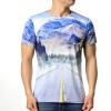 Мужская футболка с надписями с наружной печатью Pullover T-shirt футболка мужская nike aroswft strke top ss 859546 454 тренировочная т син сер