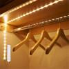 AA Аккумуляторный беспроводной датчик движения Светодиодная лента Ночной свет PIR Кровать Шкаф Шкаф Лампа Гардероб Лестница Дверь женский гардероб