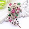 Изысканный турецкий цветок женщин брошь Pin Vintage перо дизайн смолы ювелирные шпильки антикварные золотые цветные броши броши бр броши стильные штучки брошь