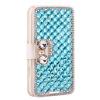 - женщины кошелек bling кристалл Diamond кожаная сумк�� покрытия перегрузки для iPhone 4 / 4 butterfly bling diamond case