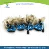 4шт Водонепроницаемая зимняя собака для собак Обувь против скольжения Дождь снега Обувь Толстый Теплый для маленьких кошек Собаки