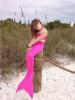 3 шт. Позолота для девочек Mermaid Tail Купальники Купальные костюмы Бикини Купальники Плавательные костюмы Плавающая одежда как костюмы в dead space 3