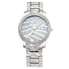 Женщины из нержавеющей стали Кварц движение наручные часы с ювелирные изделия с бриллиантами кристаллов Platinum покрытием Полное Чешская Watch G&D201503