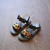 2018 летом новая мода детей обувь для девочки, сандалии, принцесса обувь леопард прекрасно лук малыша обувь обувь для детей