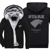 Волшебная игра престолов Direwolf Ghost House of Stark Winter Coming Куртка Толстовки Толстовки Hoodie Zipper Coa