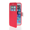 MOONCASE View Window Leather Side Flip Stand Pouch Soft Back Shell ЧЕХОЛ ДЛЯ Apple iPhone 6 ( 4.7 inch ) Hot pink roar korea noble leather stand view window case for iphone 7 4 7 inch orange