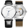 Чайка смотреть мода простой часы автоматическая механическая форма календарь белый пояс чайка смотреть мужской стол 819.17.5038