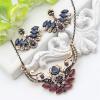 Новый стиль турецкого крыла ювелирные наборы для женщин Ретро золото цвет смолы регулируемые серьги цветок ожерелье Индия этническ