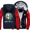 2018 Новая горячая продажа Новый Alfa Romeo мода плюс бархат толстый с капюшоном свитер осенью и зимой молния кардиган куртка носки запорожец галчонок короткие серый меланж o s