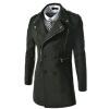 CT&HF Мужчины Отдых моды пальто средней длины пальто молния дизайн Элегантный Темперамент пальто отворотом Pure Color куртка с длинным рукавом пальто контракту пальто modus пальто