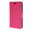 MOONCASE Litch Skin Leather Card Slot Wallet Bracket Back чехол для HTC Desire 320 D320 Hotpink htc desire 320 8gb vanilla white