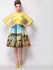 Lovaru ™ 2015 летние юбки новый большой моды пейзаж картины печати горячей продажи нового способа юбки lovaru ™ женские осенние 2015 новый цветок пояса талии юбки туту юбки hiqh доставленных