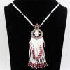 Luxuriant Women 80cm Long Beads Necklace Турецкая смола Tulip Flower Bead Jewelry Tassel Necklace Retro Gold Color Royal Jewelry