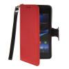 MOONCASE Лич кожи Кожа держатель карты бумажник чехол с Kickstand чехол для Sony Xperia Z1 Compact (Mini) Красный mooncase лич кожи кожа держатель карты бумажник чехол с kickstand чехол для sony xperia z1 compact mini браун