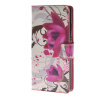 MOONCASE Flower style Leather Side Flip Wallet Card Slot Stand Pouch ЧЕХОЛДЛЯ Huawei Ascend P8 luxury stand flip