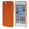 MOONCASE Litchi Skin золото Chrome Hard Back чехол для Cover Apple iPhone 5 / 5G / 5S Orange