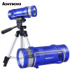 Professional Fishing Light 2 Color White Blue Lights Zoomable LED Flashlight Rechargeable Fishing Lights with Triangle bracket Set