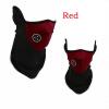 Ванкер Unisex пыле ветрозащитный пол-лица Маска вуаль гвардии зажигания для сноуборда Горнолыжный Туризм красный маска для сноуборда женский roxy popscreen rooibos tea botanic