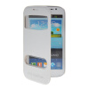 MOONCASE View Window Leather Side Flip Pouch Stand Shell Back ЧЕХОЛДЛЯ Samsung Galaxy Grand Duos i9080 i9082 White mooncase soft silicone gel side flip pouch hard shell back чехолдля samsung galaxy s6 grey