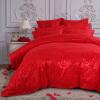 (Dohia) Комплект постельных принадлежностей Изысканные свадебные жаккардовые двуспальные кровати Четыре штуки - Rose Feige Silk 1.5m Bed