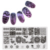 1Pc Прямоугольная тисняльная тарелка Nail Art Stamp Template Lace Flower Design Image Plate 12 * 6cm Mezerdoo 31 kads new 36pcs set 3d nail art transfer stickers happy halloween design cool skull image nail art decoration tools