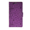 MOONCASE Cute Little Witch Leather Side Flip Wallet Card Holder Stand Pouch ЧЕХОЛДЛЯ Huawei Ascend P8 Purple