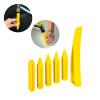 6Pcs DIY Супер PDR инструмент желтые ручки для удаления ударов резинового молота автоматические кривые оконные наборы для клинков ручки оконные с замком в москве