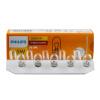Philips (PHILIPS) значение двуглавой индикаторной лампочки W5W 12V автомобильная лампочка 10 пачек лампа philips 12v w5w white vision 2 шт