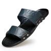 2018 Летний новый стиль моды кожаные сандалии скольжения большой размер сандалии и тапочки пляж обувь рисунок yue tuyue летний новый мужские сандалии и тапочки отверстие обувь мужчин сандалии случайные сандалии баотоу сандалии желтый 40