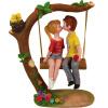 Золотой огонь Любовь Любовь Лес Пара Свинг Украшение День рождения Подарок Брак, чтобы отправить свою подругу творческие подарки