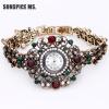 Роскошные браслеты Часы Часы Часы Часы кварца Часы Vintage Турецкие наручные часы Индийский свадебный подарок антикварных ювелирны
