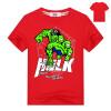 Футболки-майки Captain America и Hulk Pattern Футболки с коротким рукавом Хлопковые мстители мальчики одевают детские майки 2-11Y