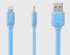 Кабель Ainy FA-032F с двусторонним USB-коннектором для Apple iPad/iPhone/iPod голубой кабель usb ozaki для iphone ipod ipad черный 1 0м ot222abk