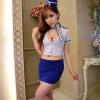 Night размер шрифта сексуальное женское белье сексуальное с глубоким вырезом белый и синий живой OL стюардесса одежды равномерное искушение сексуальное женское белье костюм erolanta кэтсьюит белый