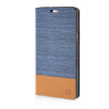 MOONCASE Canvas Design Leather Side Flip Wallet Pouch Stand Shell Back ЧЕХОЛДЛЯ Samsung Galaxy A7 Light Blue