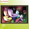 DIY 5D Круглые стразы Бриллиантовая мозаика Dream calla lilies Алмазная живопись Крест-вышивка Алмазная вышивка Домашний декор
