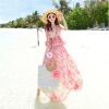 Lovaru ™Чешский платье приморский курорт пляж платье цветочные шифона платье платье бегущей путешествия