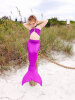 3 шт. Позолота для девочек Mermaid Tail Купальники Купальные костюмы Бикини Купальники Плавательные костюмы Плавающая одежда домашние костюмы flip перевод