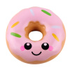 New squishy 10cm pu smile face donut pu simulation food slow rebound children decompression toys classical simulation electric trains track set children s toys with light