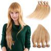 Nami Hair Piano Color 4 Bundles #27/613 Blonde Brazilian Human Straight Hair Extensions 14-26 Hair Weave Free Shipping pretty short straight blonde 8 synthetic hair wigs free shipping