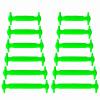 JUP 3 комплектов / 36 шт. Новый детский ребенок Нет галстуков Шляпы для взрослых Взрослые дети Unisex Эластичные силиконовые шнурки Случайный спорт Lazy Shoelaces