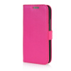 MOONCASE High quality Leather Wallet Flip Card Slot Pouch Stand Shell Back ЧЕХОЛ ДЛЯ HTC One Mini 2 M8 Mini Hot pink mooncase classic cross pattern leather side flip wallet card slot pouch stand shell back чехол для htc desire 816 hot pink