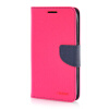 MOONCASE Leather Side Flip Wallet Card Slot Pouch Stand ЧЕХОЛДЛЯ Samsung Galaxy Grand 3 / Grand Max G7200 Hot pink