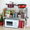 США повар (maxcook) хранение кухни полки стеллажи микроволновая из нержавеющей стали MCWA-ZWJ01 растяжению регулируется с помощью крюка ленты площадки этажа